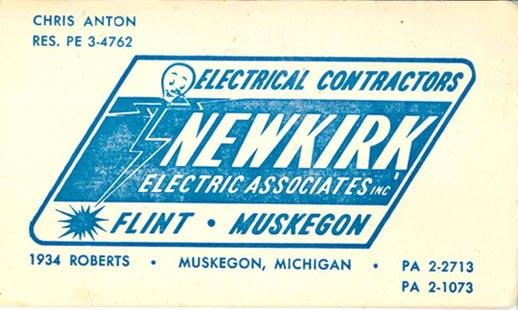 Newkirk Electric in the 1960s - letterhead