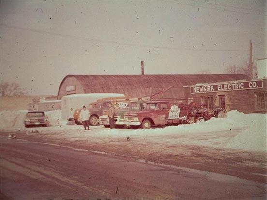 Newkirk Electric offices in the 1970s